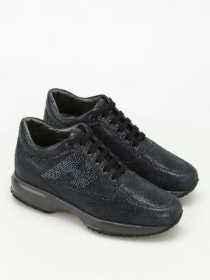 Hogan: trainers online - Interactive rhinestone H sneakers