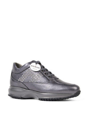 Hogan: trainers online - Interactive rhinestone-H sneakers