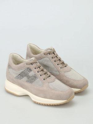 Hogan: trainers online - Interactive rhinestone sneakers