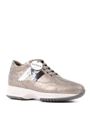 Hogan: trainers online - Interactive sequined H sneakers