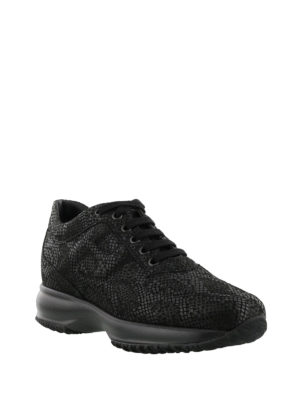 Hogan: trainers online - Interactive shiny suede sneakers