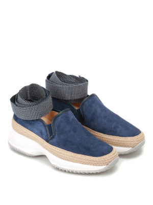 Hogan: trainers online - Interactive slip-ons with ribbons