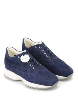 Hogan: trainers online - Interactive soft suede sneakers