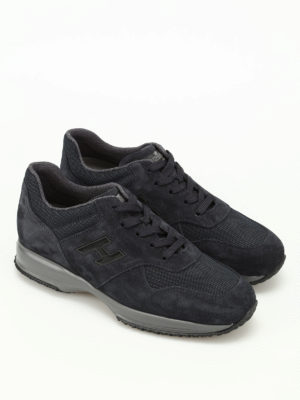 Hogan: trainers online - Interactive suede and mesh sneakers