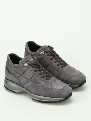 Hogan: trainers online - Interactive suede sneakers