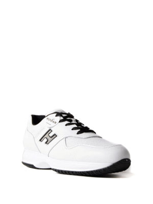 Hogan: trainers online - Interactive white leather sneakers
