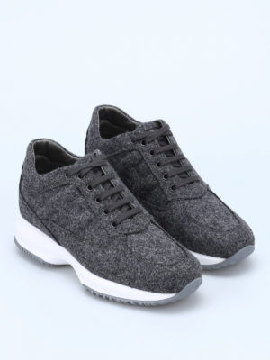 Hogan: trainers online - Interactive wool fleece sneakers