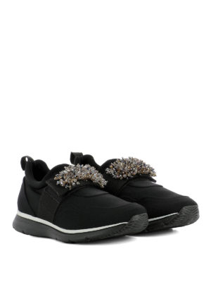 Hogan: trainers online - Jewel slip-on fabric sneakers