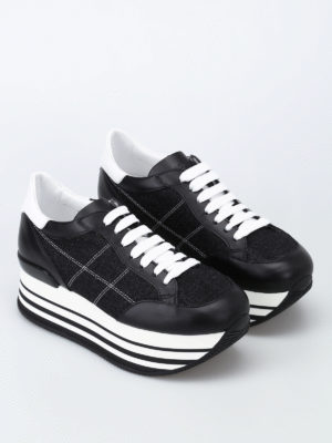 Hogan: trainers online - Leather and fabric Maxi H222