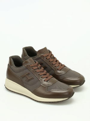 Hogan: trainers online - Leather and nylon Interactive N20