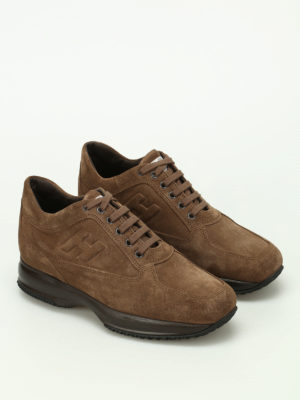 Hogan: trainers online - Light brown suede Interactive