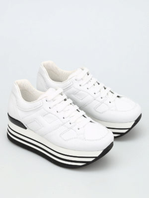 Hogan: trainers online - Maxi 222 leather sneakers