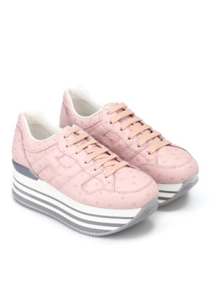 Hogan: trainers online - Maxi 222 ostrich leather sneakers