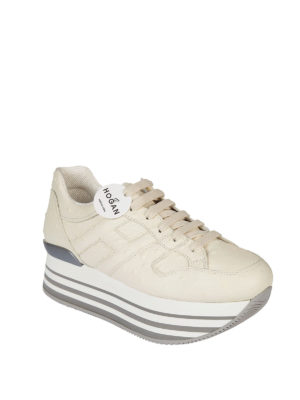 Hogan: trainers online - Maxi 222 ostrich print sneakers