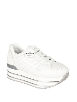 Hogan: trainers online - Maxi H222 leather sneakers
