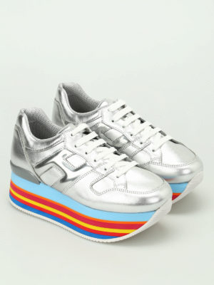 Hogan: trainers online - Maxi H222 multicolour sole sneaker