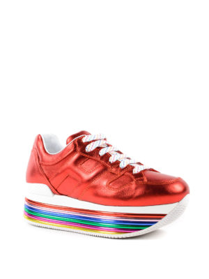 Hogan: trainers online - Maxi H222 multicolour sole sneakers