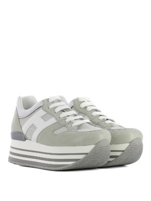 Hogan: trainers online - Maxi H222 textured suede sneakers