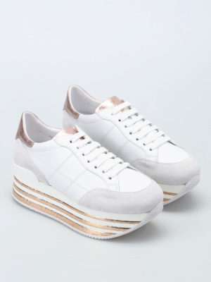 Hogan: trainers online - Maxi platform two-tone sneakers