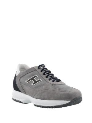 Hogan: trainers online - New Interactive grey suede sneakers