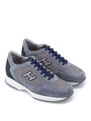 Hogan: trainers online - New Interactive H Flock blue shoes