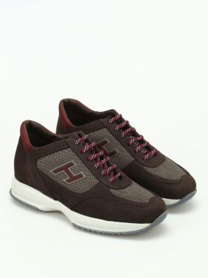 Hogan: trainers online - New Interactive H Flock suede shoes