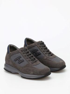 Hogan: trainers online - New Interactive suede sneakers