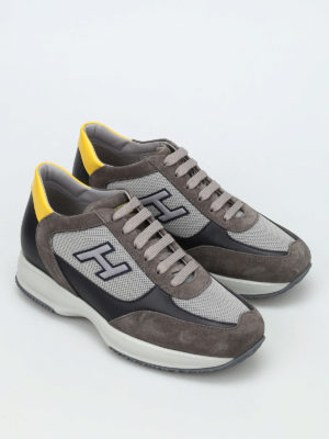 Hogan: trainers online - New Interactive two-tone sneakers