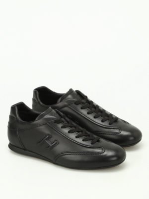Hogan: trainers online - Olympia black leather sneakers