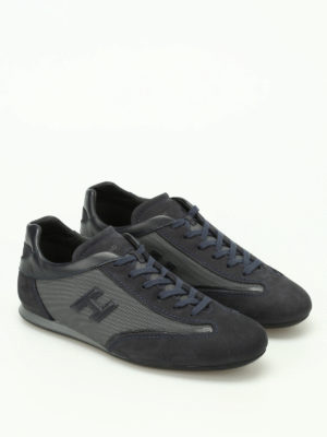 Hogan: trainers online - Olympia blue nubuck sneakers