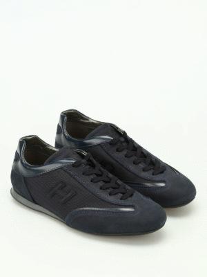 Hogan: trainers online - Olympia dark blue nubuck sneakers
