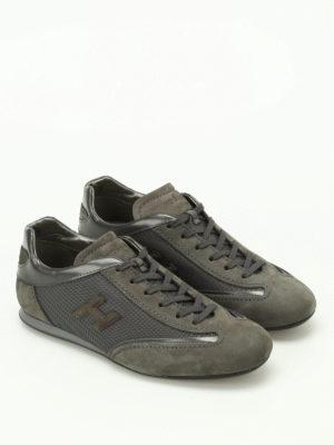 Hogan: trainers online - Olympia grey nubuck sneakers