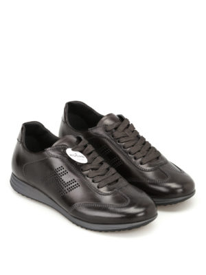 Hogan: trainers online - Olympia H205 black leather sneakers