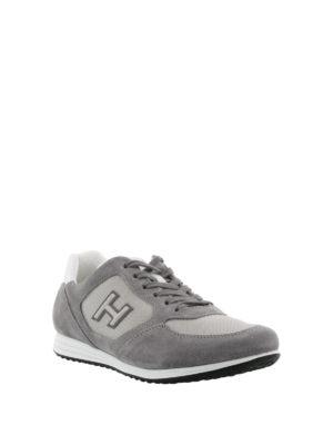 Hogan: trainers online - Olympia H205 grey suede sneakers