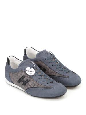 Hogan: trainers online - Olympia Slash H3D blue sneakers