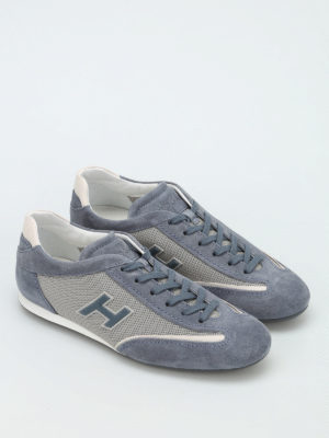 Hogan: trainers online - Olympia suede and nylon sneakers