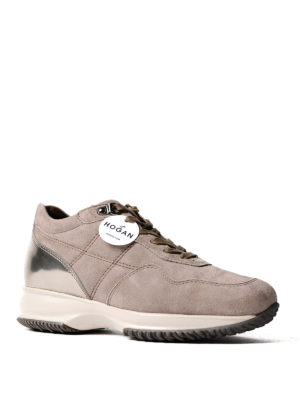 Hogan: trainers online - Quilted suede Interactive sneakers