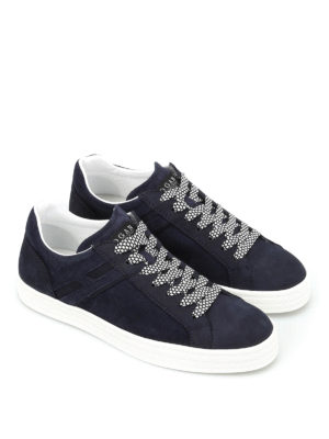 Hogan: trainers online - R141 nubuck leather sneakers