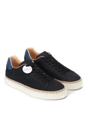 Hogan: trainers online - R260 blue leather sneakers