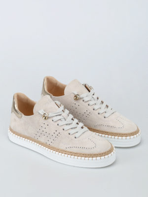 Hogan: trainers online - R260 drilled H suede sneakers
