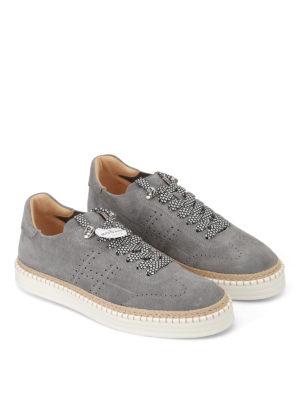 Hogan: trainers online - R260 grey suede sneakers