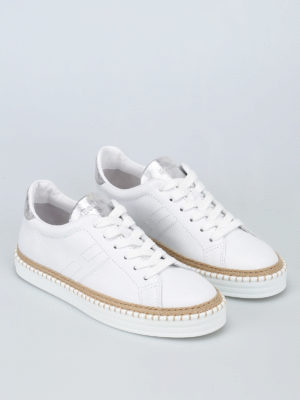 Hogan: trainers online - R260 white leather sneakers