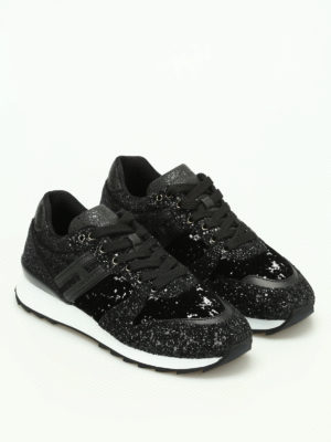 Hogan: trainers online - R261 coarse glitter sneakers