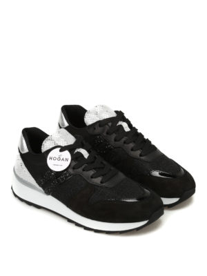 Hogan: trainers online - R261 lurex and suede sneakers