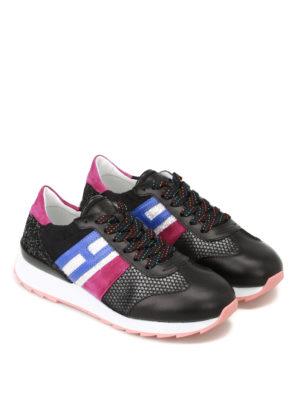 Hogan: trainers online - R261 multi fabric running sneakers