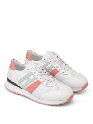 Hogan: trainers online - R261 multi fabric white sneakers