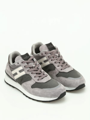 Hogan: trainers online - R261 suede and fabric sneakers
