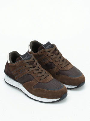 Hogan: trainers online - R261 suede and mesh sneakers
