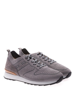 Hogan: trainers online - R261 suede and nubuk sneakers