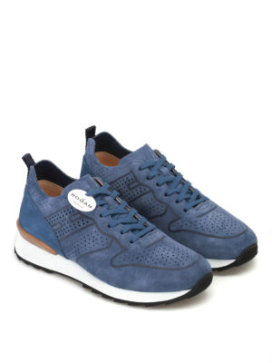 Hogan: trainers online - R261 unlined suede sneakers